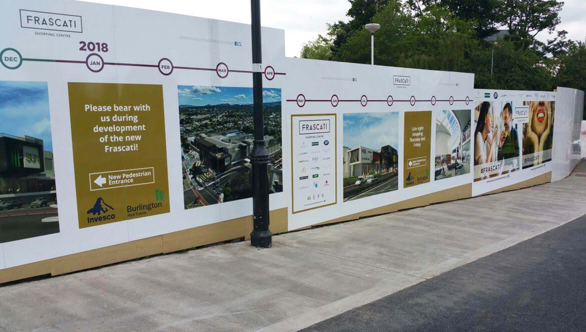 Frascati Centre Advertising Hoarding 2