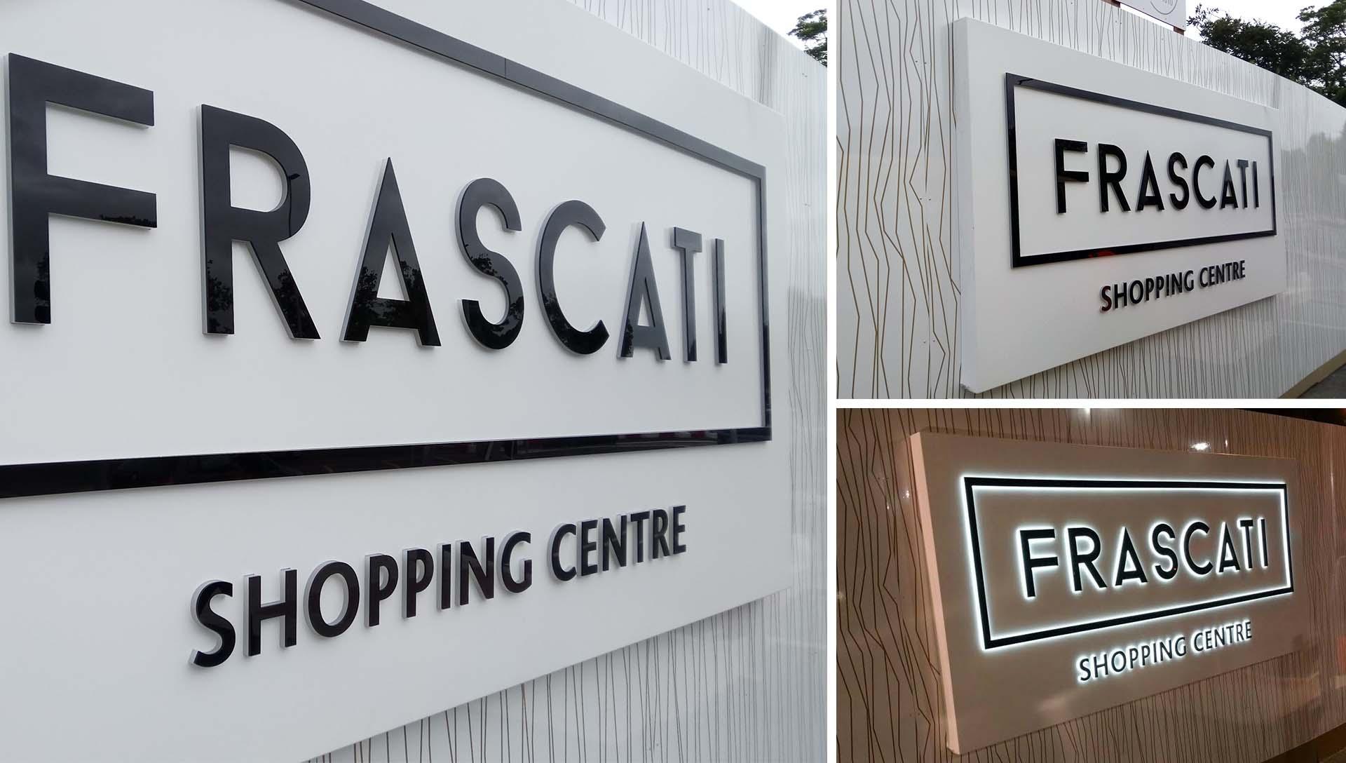 Frascati Centre Main Sign